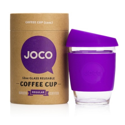 JOCO Cup Reusable Glass Coffee Cup 12oz - Purple